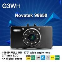 "2014 NEW CAR DVR G3WH Novatek 96650 Full HD 1080P 30FPS+G-Sensor + 2.7"" LCD DVR Recorder+HDMI+H.264 Video Recorder Dash Cam"