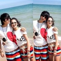 Lovers Couple Men Women Various Beach Surf Board Swim Shorts Sports Wear L-XXL HT08 For Freeshipping