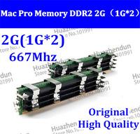 2pcs Original MACPRO Memory Mac Pro 1,1 2,1 3,1 DDR2 667 FB-Dimm 2GB (1GBx2) DDR2 PC2-5300 ECC DDR2-667 w/pple