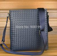 2014 new B *V  woven male bag calfskin leather casual Messenger Shoulder men package
