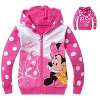 2014  Children's clothing kids spring and autumn boys girls sportswear cartoon  Sport suit coat children  zipper  hoody E78