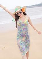 2013 New Saress Bikini Wrap Dress Women's Sarong Swim cover-ups Cross Beach dress Cashew
