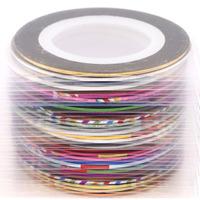 1Box 32 Colors Nail Art Wraps Glitter Sticker Decal Polish Decoration Transfer Foil Decal  63496