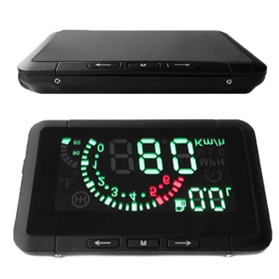 Автомобиль HUD Head вверх дисплей автомобиль - установлен безопасность системы с OBD2 OBD 2 интерфейс превышения скорости предупреждение топливо потребление W01