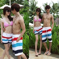 Lovers Couple Men Women Various Beach Surf Board Swim Shorts Sports Wear L-XXL HT12 For Freeshipping