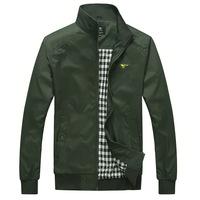 New men's jacket 2014 Collar zipper pure color jacket