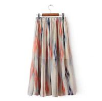 2014 New Korean fashion summer print women long skirt female skirts N26765