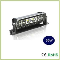 13.8 INCH CREE  56W Dual Row LED Light Bar 2X10W+12X3W mixed,   off road light ,led work light Square