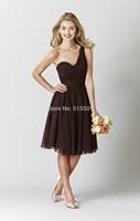 2014 New Arrival Free-Shipping Sweetheart Sleeveless Short Bridesmaid Dress