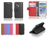 New High quality High-grade Leather Wallet Stand Skin Cover Case For Samsung Galaxy Trend Plus S7580 Free shipping