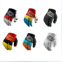 2014 Newest Troy Lee Designs GP Grand TLD racing Gloves bicycle bike cycling fullfinger motorcross glove red/black/yellow