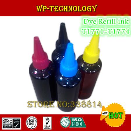 Набор чернил для принтера WPT Epson T1771 /t1774, dyebased] Epson Epson xp/102 xp/202 xp/302 xp/402 T1771REFILLINK цены онлайн