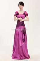 long evening lady dress wedding purple simple princess dresses china post freeshipping