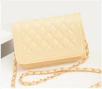 HOT 100%  New Shoulder Bag Small Plaid Chain Messenger Bag Handbag Across-body Leather Women's Bags Small Perfume in Stock