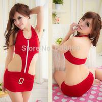 2014 Red Erotic Suits Woman Sexy Pajamas Acrylic Fashion Kimono Style Sexy Costumes  Fantasia Nightgown Sleepwear 2139