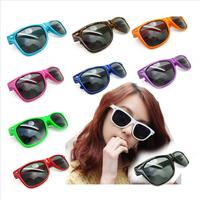 2014 Summer  Free Shipping Retail Girl's Fashion  Beach Leisure 10 Color Acrylic  Dark Sunglasses W34448A01