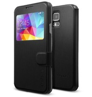Free Shipping Phone Cases New SPIGEN SGP Flip View Case Cover for Samsung Galaxy S5 i9600 without Retail Box