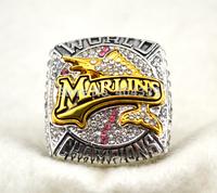 rhodium plated replica 2003 Florida Marlins baseball World Series Championship Rings