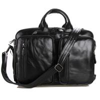 J.M.D 2015 New Men genuine leather business bag multiple uses men messenger bags tote shoulder laptop bag man handbags 7041A-1