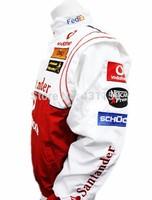 2014 New White F1 Racing Suit Twicolor Mclaren RJ001-7W Racing Jacket Men Car Jacket Jaqueta de motocicleta Free Shipping