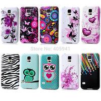1pc S5 mini Flower TPU cover, Flower  Owl Zebra Starfall Soft TPU Case For Samsung Galaxy S5 mini G800 Back Glossy Cover