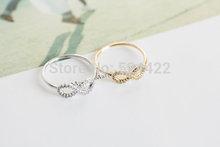 ouro 18k infinito prata anel de amizade com cristal a melhor amigo toca(China (Mainland))