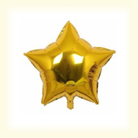 "5"" Gold Star Shape Helium Foil Balloons,Birthday,Holidays & Party Supply Decorations Mix Color 100pcs/lot"