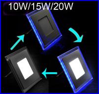 Square panel led lamp white/warm white+Blue 3module led ceiling lighting AC85-265V industrial light home decoration light