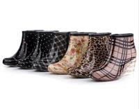 Women Fashion Knee-high Rain Boots Female High-heeled Boots Female Rain boots Rain Shoes Female Water Shoes 4RB15 Free Shipping