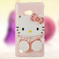 Protective soft TPU back cover case for nokia lumia 720 case cover cartoon diamond luxury with mirror fashion style