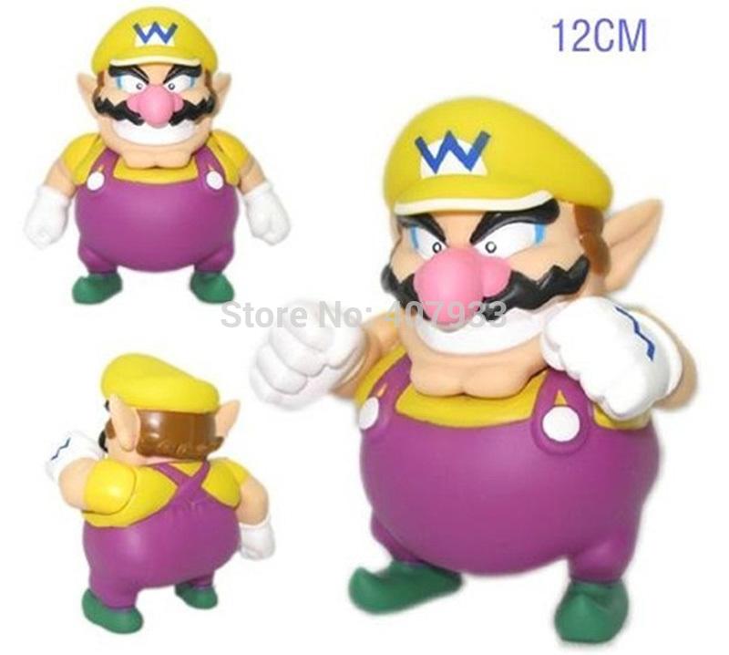 "PVC Cute Super Mario Bros Wario PVC Figure Toy New 4.9"" Retail(China (Mainland))"