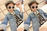 2014 new women's Slim hole denim jacket denim jacket female turn-down collar sy-391
