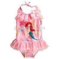 Retail Girls Kids Baby Mermaid Cute Swimsuit Swimwear Bathers Monokine Children Bathing Suits Tankini Swim Free Shipping