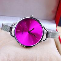 11 colors New Fashion Silver Watches for Women Dress Watches Quartz Watch 1pcs/lot