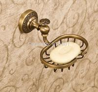 Hot Sale Wholesale And Retail Promotion NEW Antique Brass Bathroom Soap Dishes Basket Holder Flower Base Hot Sale
