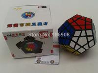 shengshou megaminx cube SS Megaminx twist puzzle toy Black /white base PVC sticker free shipping