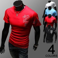 Totem embroidered new summer men's fashion casual cotton short-sleeved T-shirt