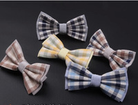 Fashion imitated silk bow tie plaid bowtie men's butterfly bow ties Wedding Bow Tie free shipping 10pcs/lot  #1693