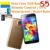 Full 1:1 Original S5 Smartphone I9600 phone 2GB RAM 8GB ROM MTK6592 Octa Core Android 4.4 Original Logo under glass GPS Wifi