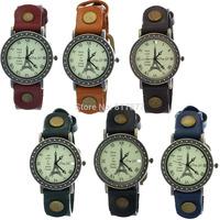 Unisex Paris Effiel Tower Quartz Analog Men Women Wrist Watches, Gift for Lovers, Wholesale Free Shipping