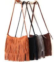 hot sale Women Europe and America fashion messenger bag Long Tassel European Cross Body Bags girl Single Shoulder Bag