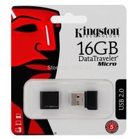 Kingston DataTraveler micro DTMC USB 16GB 16G DTMCK Black Flash Pen Drive