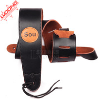 Electric guitar suspenders sou genuine leather the broadened wood guitar shoulder strap folk guitar suspenders personalized