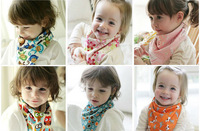 20 pcs full Cotton BANDANA BIBS, Baby Kid Toddler Bandana Bibs Saliva Towel Dribble Triangle boy & girl Head Scarf CP023