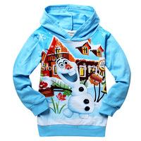 Summer dress Frozen Elsa BABY & kids long sleeve girls hoodies Frozen olaf Frozen T-shirt sweater 6pcs / LOT free shipping 709