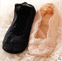 Wholesale FREE SHIPPING 3pcs/lot young girls Sexy Sock Slippers Lace Floral Hollow out women Socks