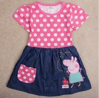 Peppa Pig girl Dress Kid Clothing Children's Wear NOVA Fashion New 2014 Summer dress for Girls Toddler Princess Dress baby girl