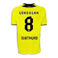 Free shipping! 2013/14 Borussia Dortmund home yellow soccer football jersey, GUNDOGAN.top Thai quality BVB soccer uniforms.