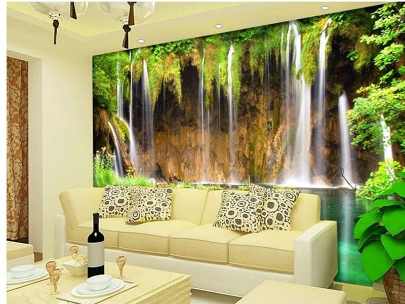 Acquista all 39 ingrosso online 3d wallpaper landscape da for 3d effect bedroom wallpaper