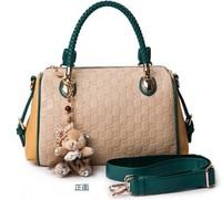 8Colors New 2014 Fashion PU Leather Women Messenger Bag,Mango Plaid Bucket Women Leather Handbags Drop Shipping Available